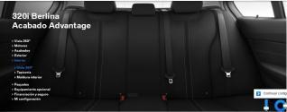 Asientos de tela , deportivos con apoyo lumbar y molduras opcionales negro brillo intenso